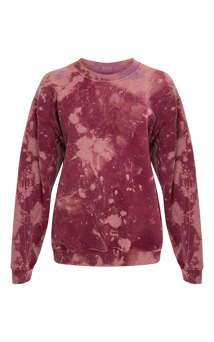 Wynta Burgundy Bleached Sweatshirt 3