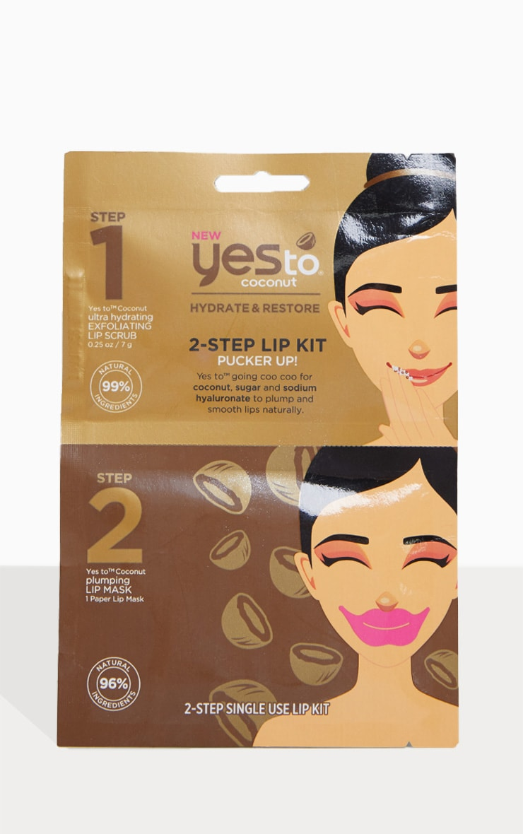 Yes To Coconut 2-Step Pucker Up Plumping Lip Kit 1