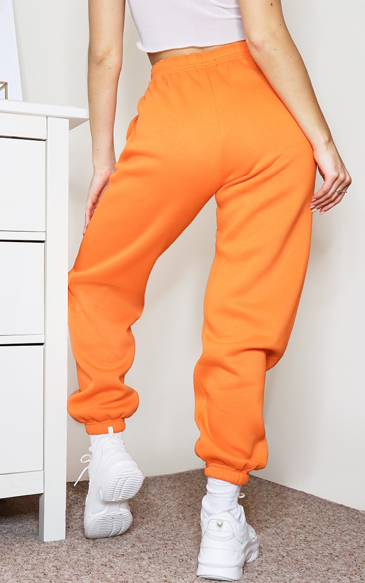 Bright Orange Casual Joggers 3