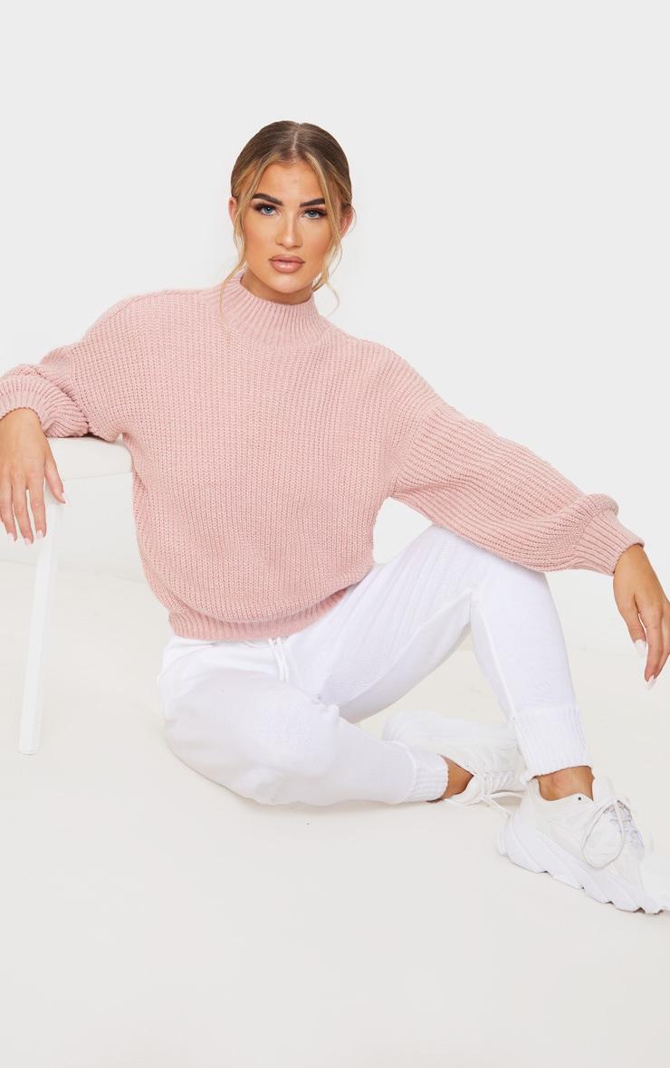 Dusty Pink Balloon Sleeve Fluffy Sweater 4