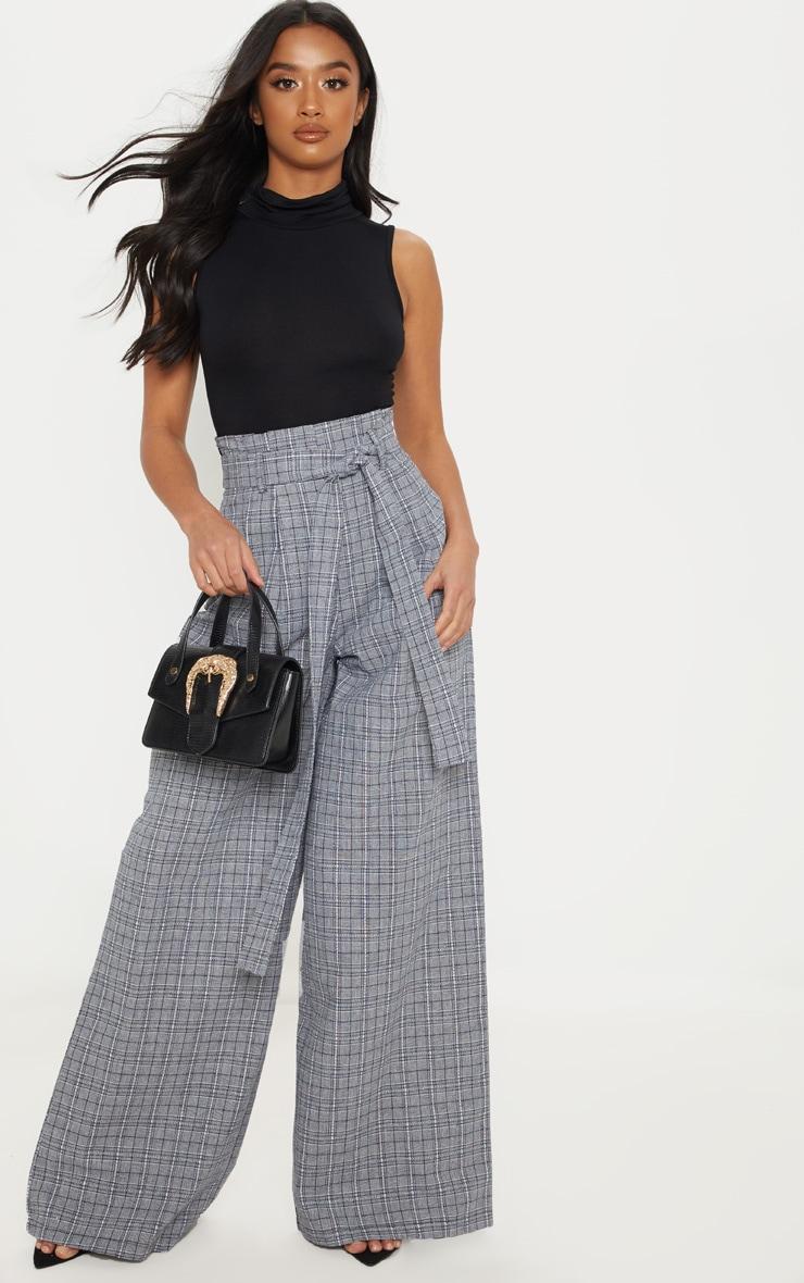 Petite Black Basic Roll Neck Sleeveless Bodysuit 5