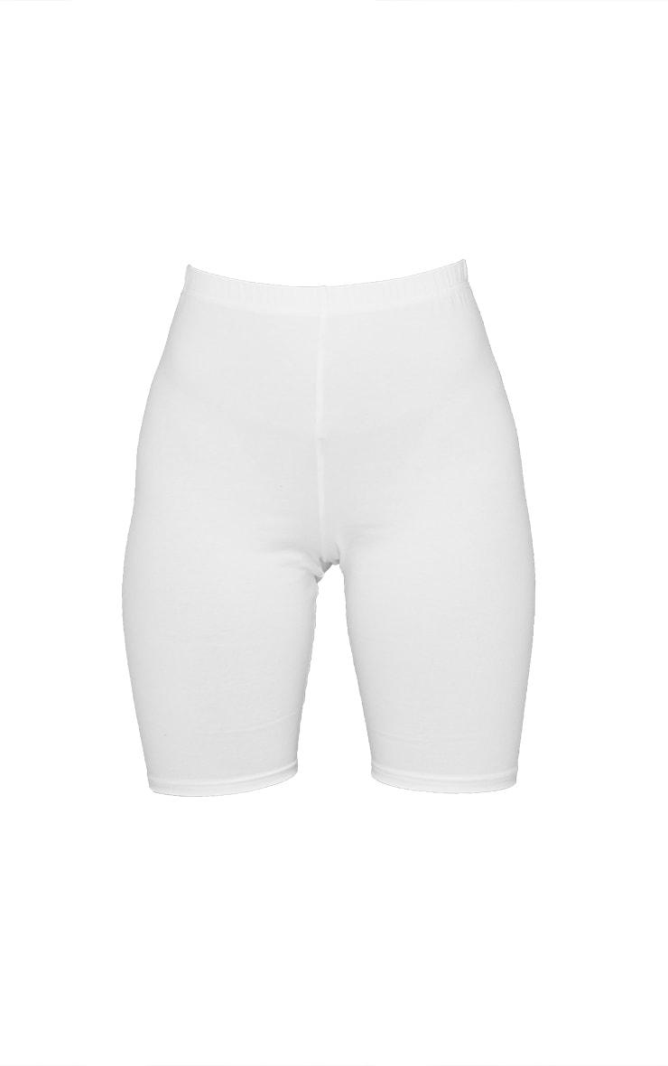 Cream Cotton Stretch Bike Shorts 6