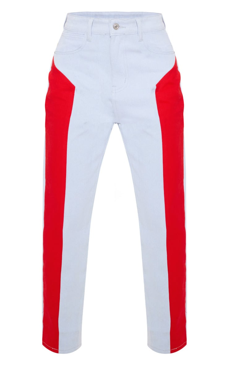 Red Two Tone Jeans 3