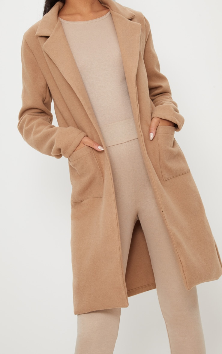 Beige Pocket Front Coat  5