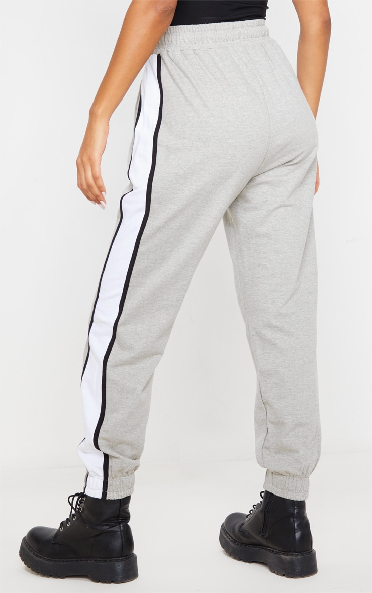 Grey Multi Side Stripe Joggers 4