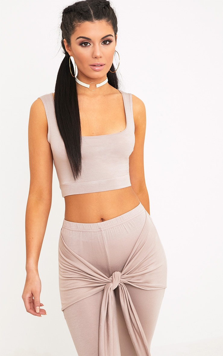 Elysia Stone Jersey Crop Top 1