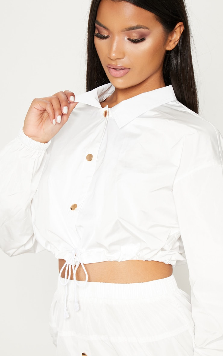 White Shell Suit Jacket 5