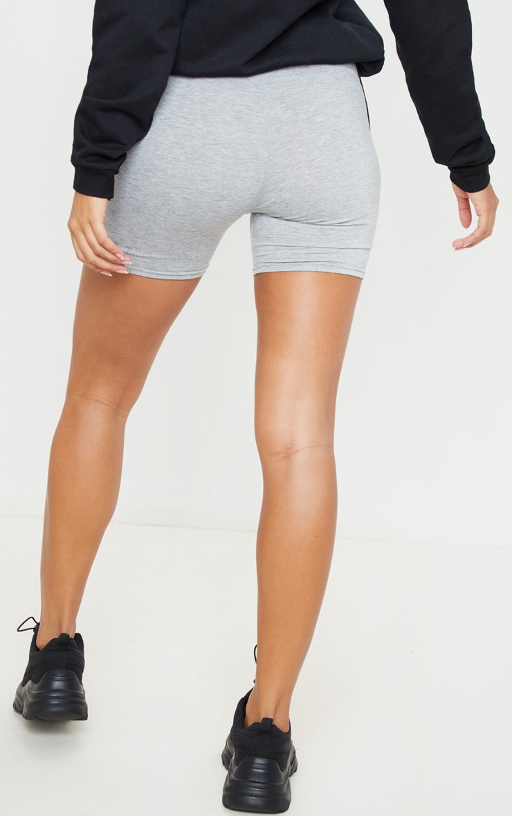 PRETTYLITTLETHING Grey Basic Sport Jersey Cycle Short 4