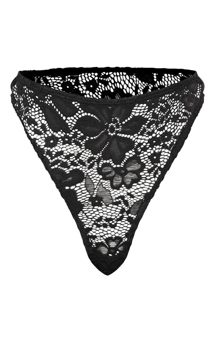 Shape Black Lace Thong 3