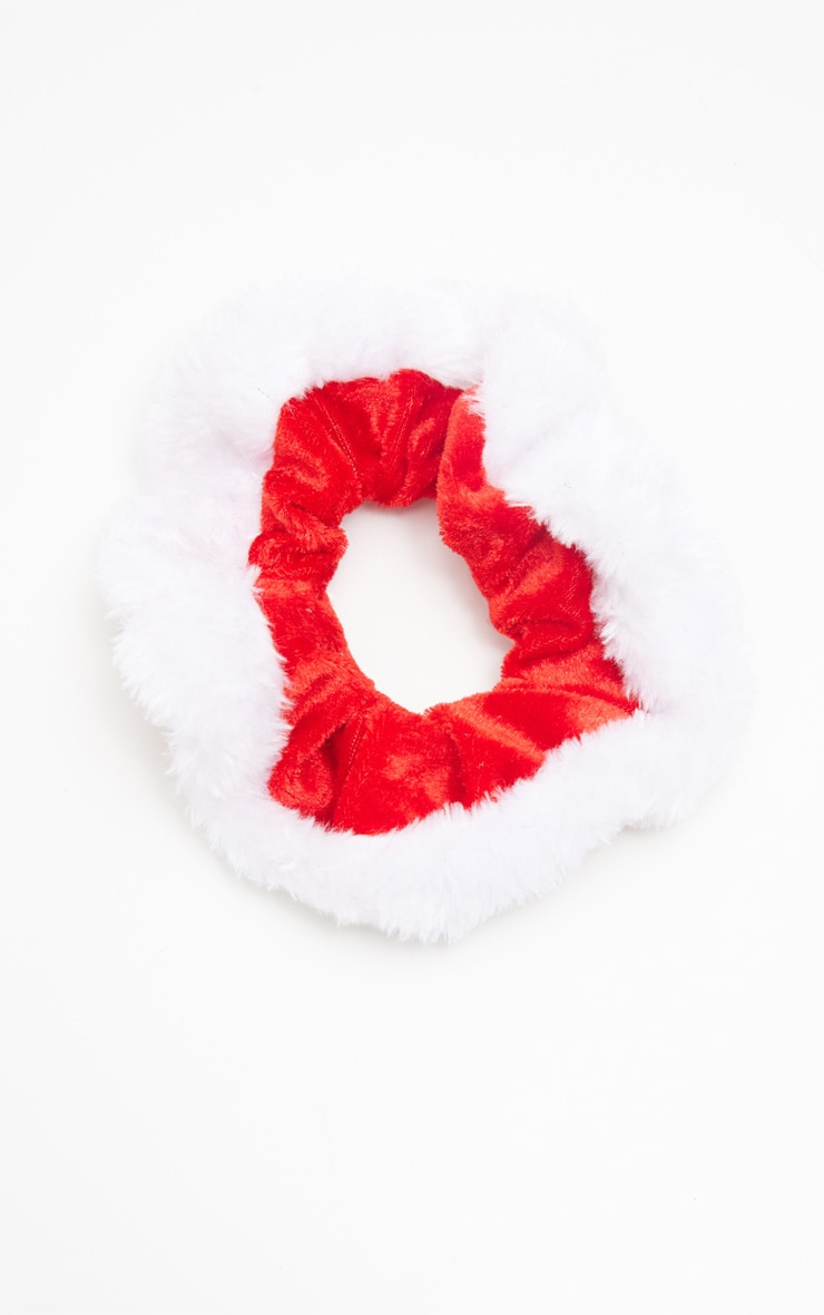 Red Santa Scrunchie 2