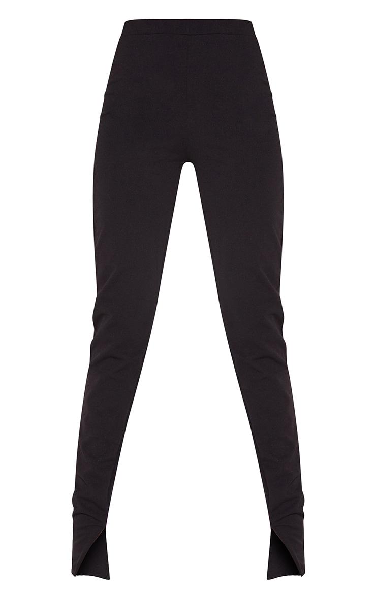 Tall Black Back Seam Split Hem Crepe Pants 5