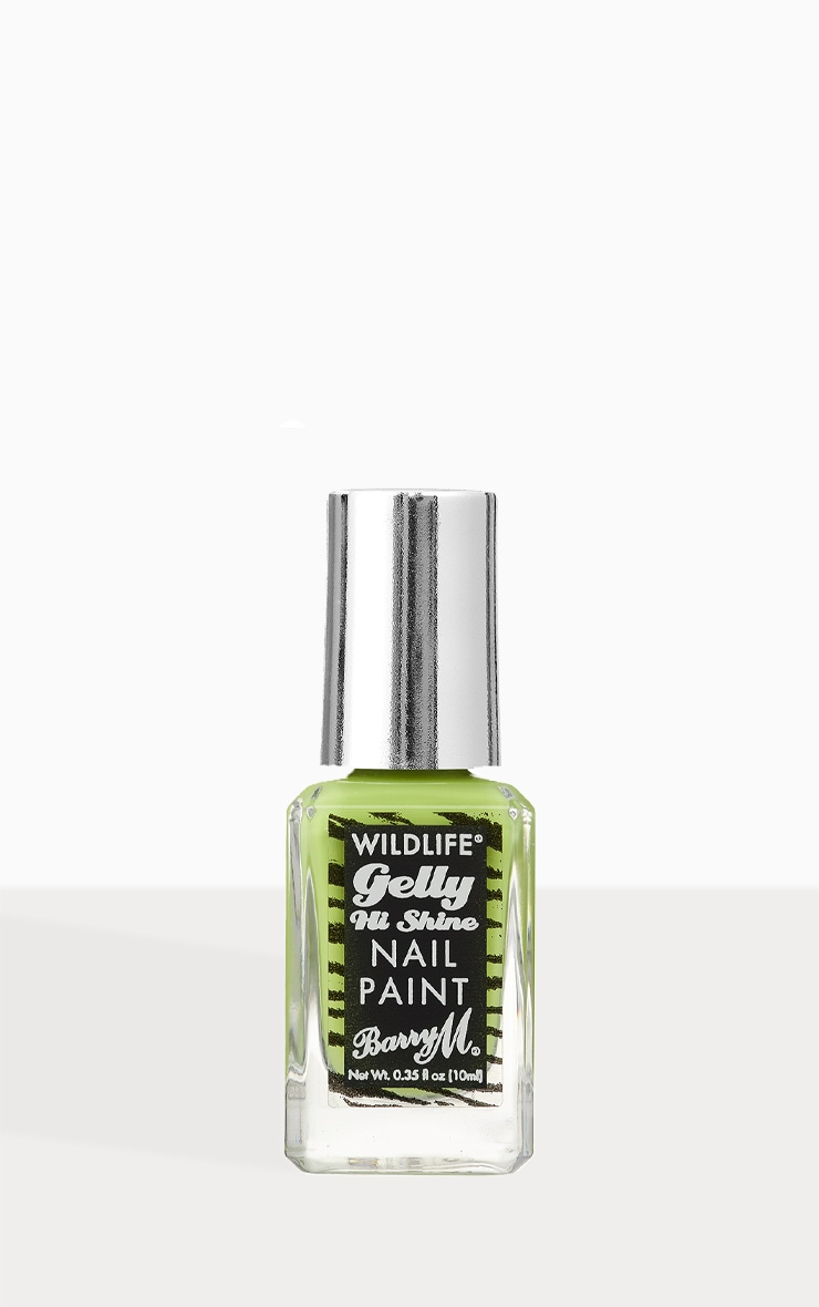 Barry M Wildlife Gelly Nail Paint Rainforest Green 1