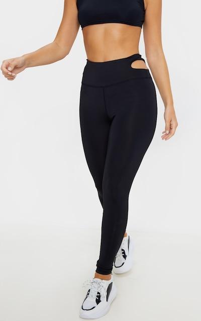 Black Cut Out Long Gym Leggings