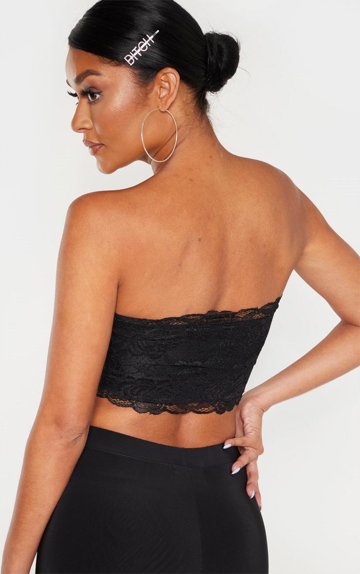 Black Lace Frill Bandeau 2