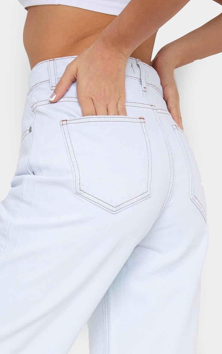 Off White Long Leg Straight Jeans 4