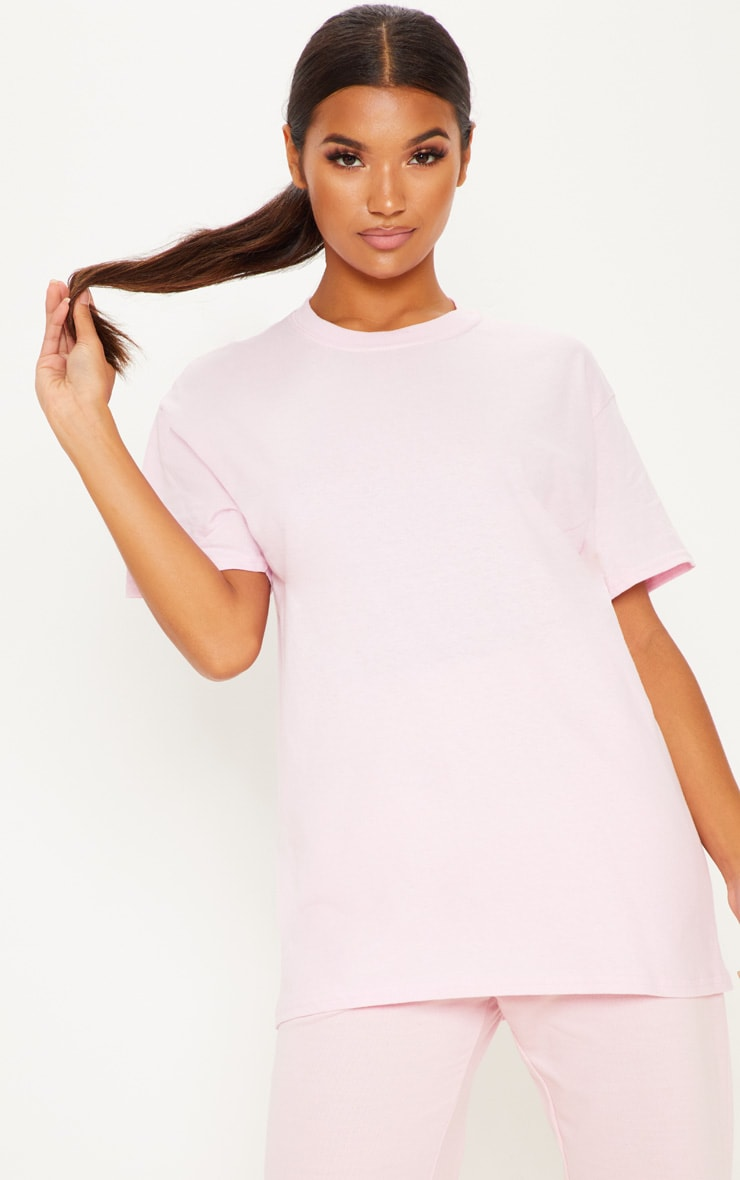 Ultimate Light Pink Oversized T Shirt 1