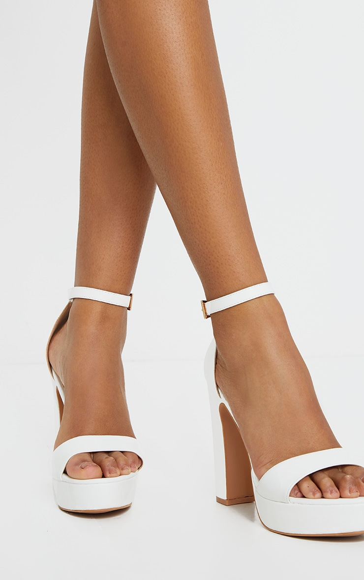 Taya White PU Platform Sandals 1