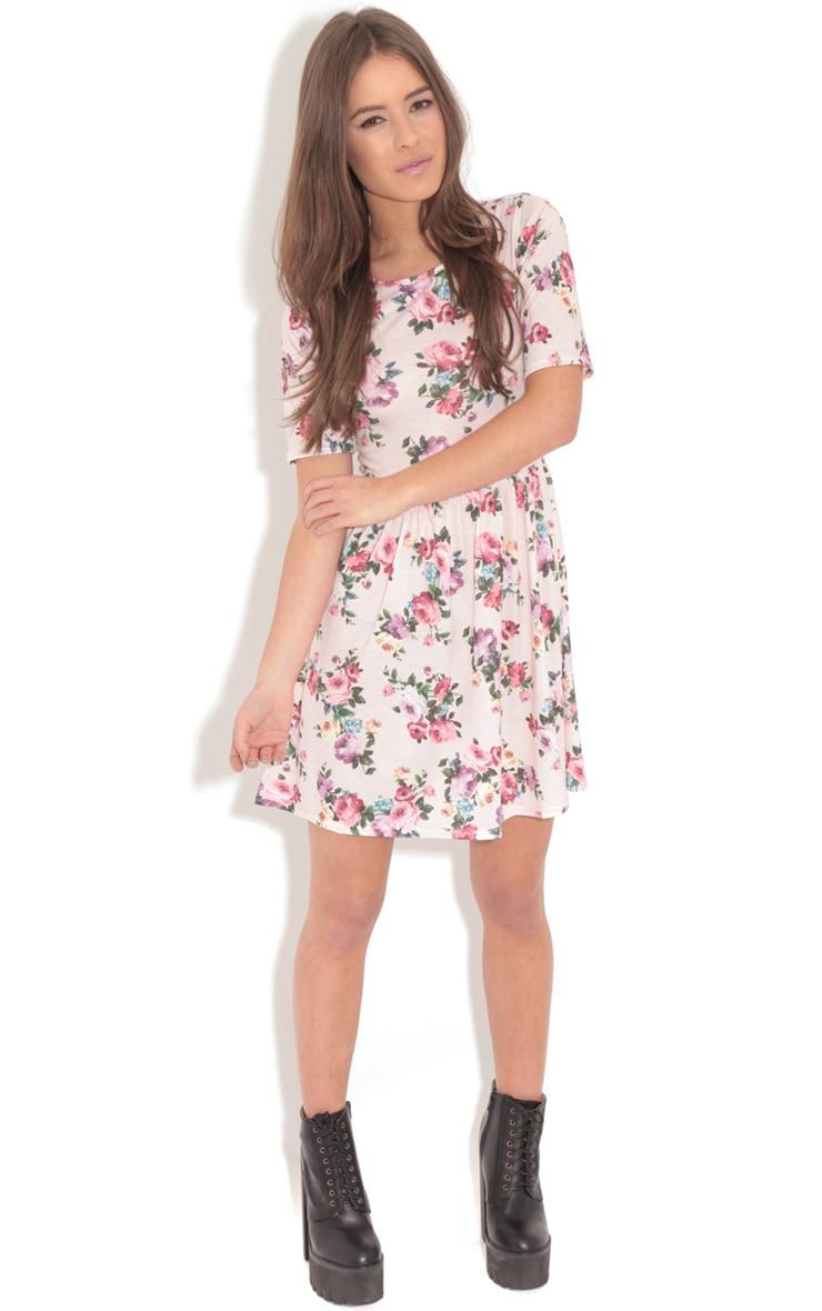 Christie Pink Floral Skater Dress 3