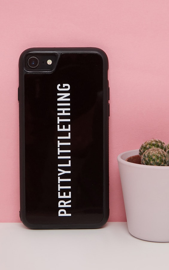 PRETTYLITTLETHING Black Logo 7 iPhone Case  1