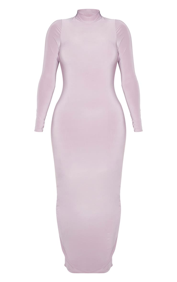 Shape Mauve Slinky High Neck Backless Maxi Dress 3