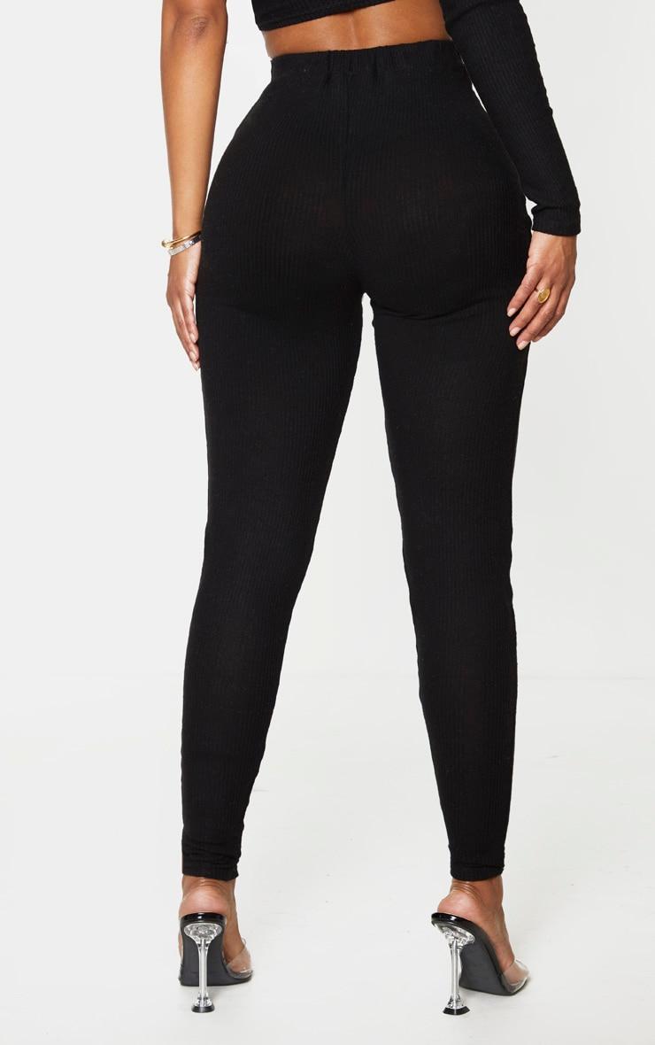 Shape Black Brushed Rib High Waist Leggings 3