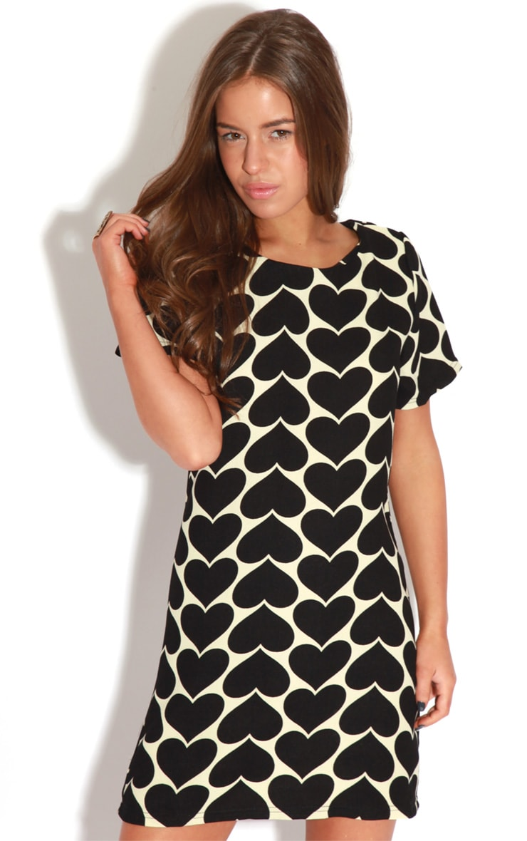 Maria Black & Cream Love Heart Dress 5