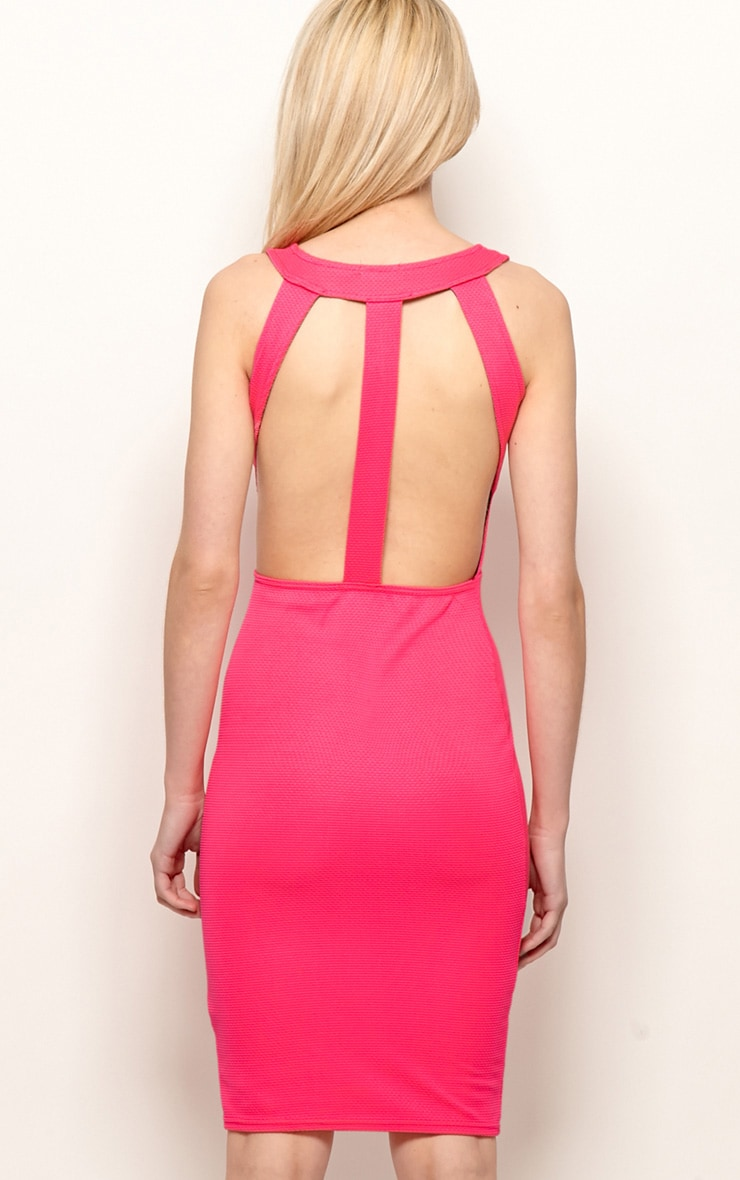 Zelia Fuchsia Backless Dress 2