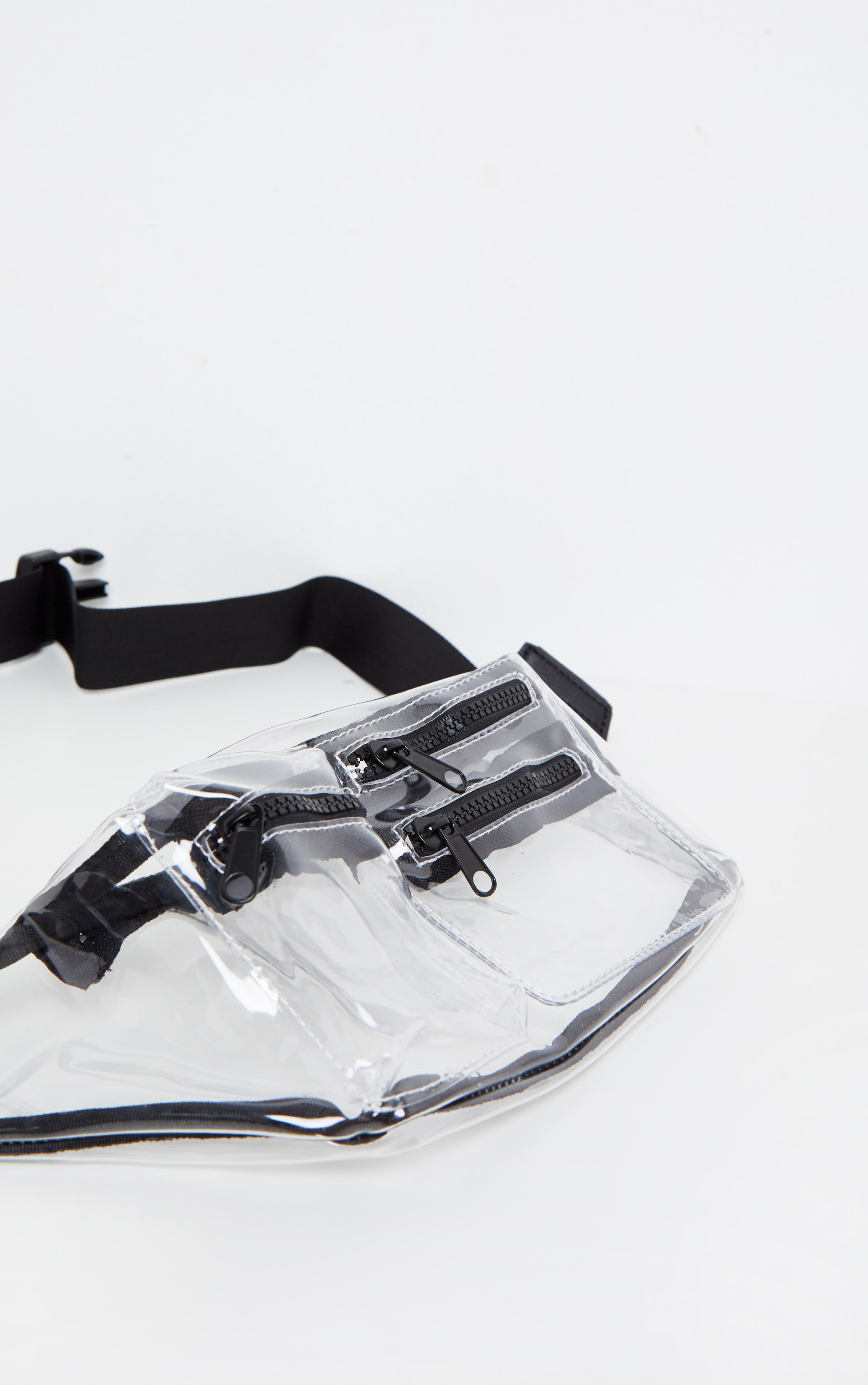 Clear Transparent Multi Zip Bum Bag 4