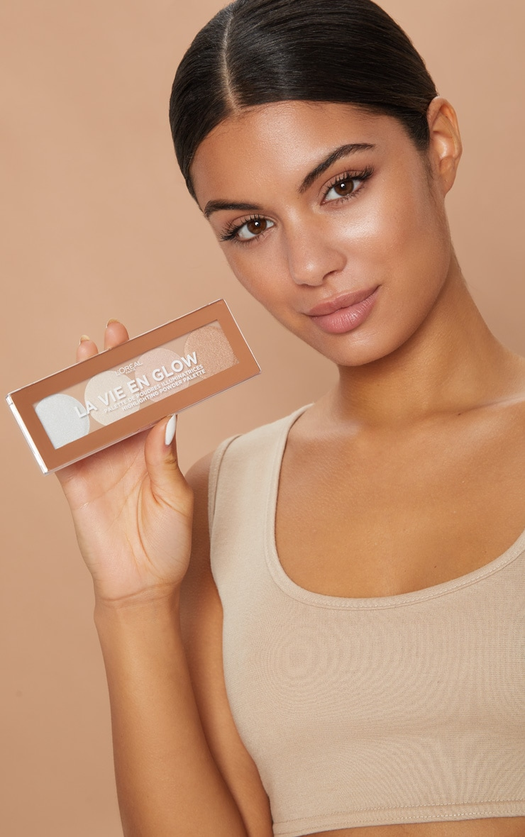 L'Oréal Paris La Vie En Glow Highlighting Powder Palette Cool Glow 3