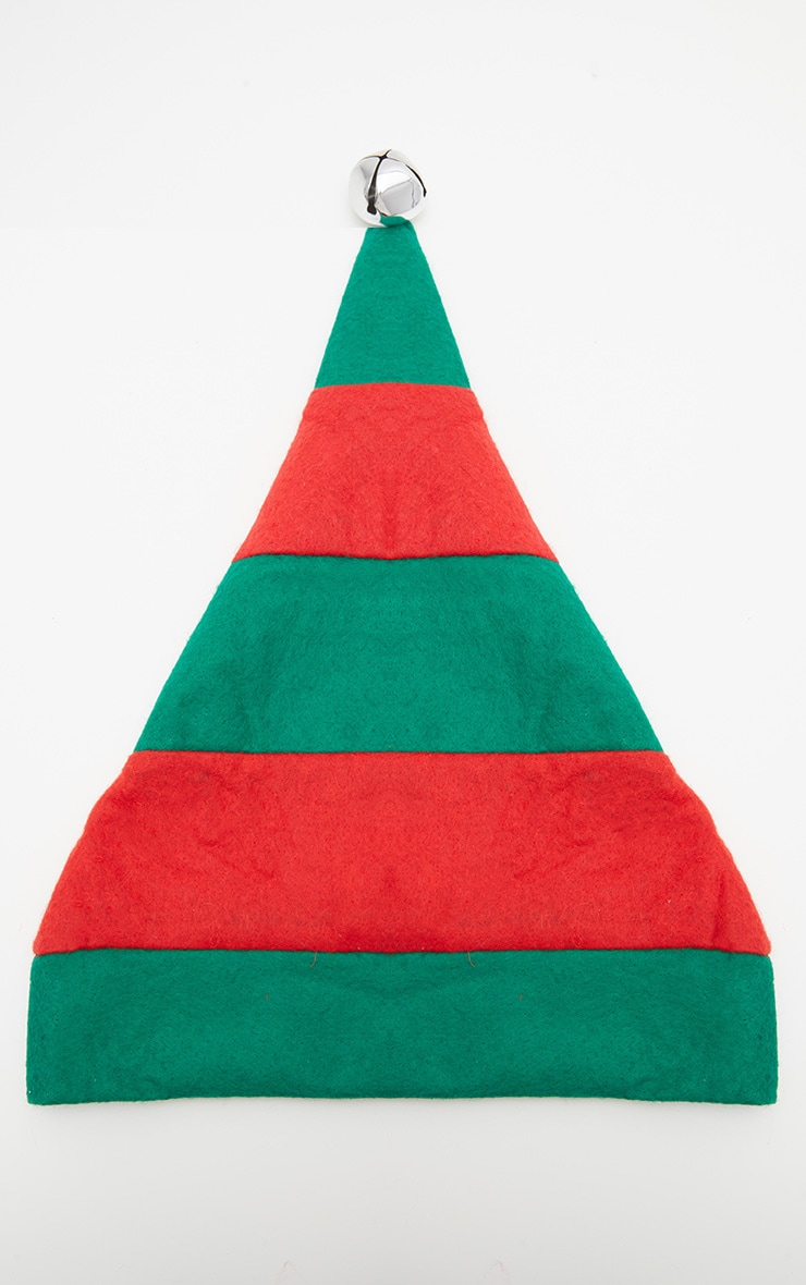 Green and Red Christmas Elf Hat 2