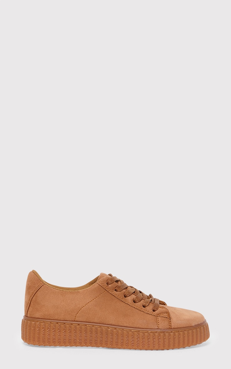 Kailey Camel Faux Suede Creepers 1