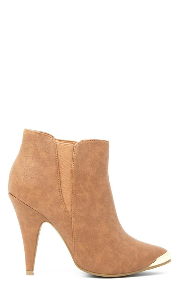 Anastasia Tan Leather Ankle Boots 3
