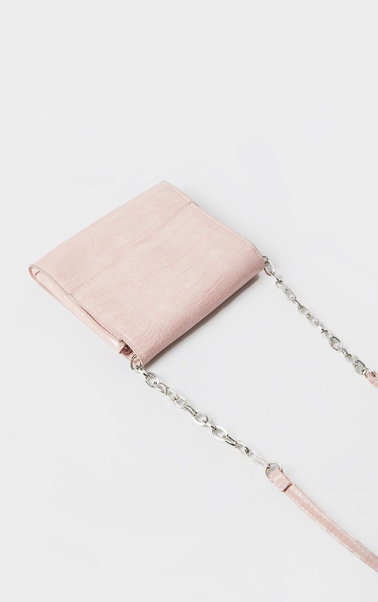 Pink Croc Square Mini Cross Body Bag 3