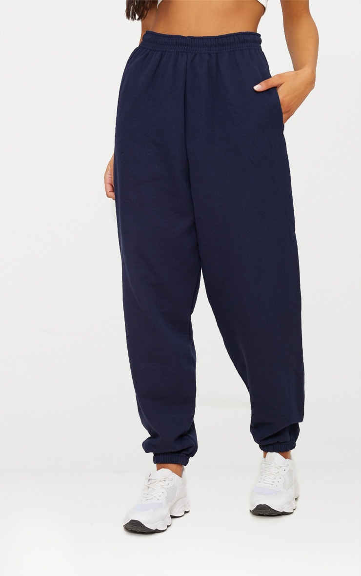 Navy Blue Casual Joggers 4