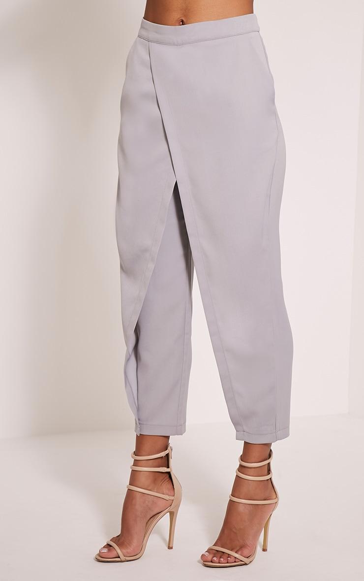 Rachel Grey Cross Front Trousers 4