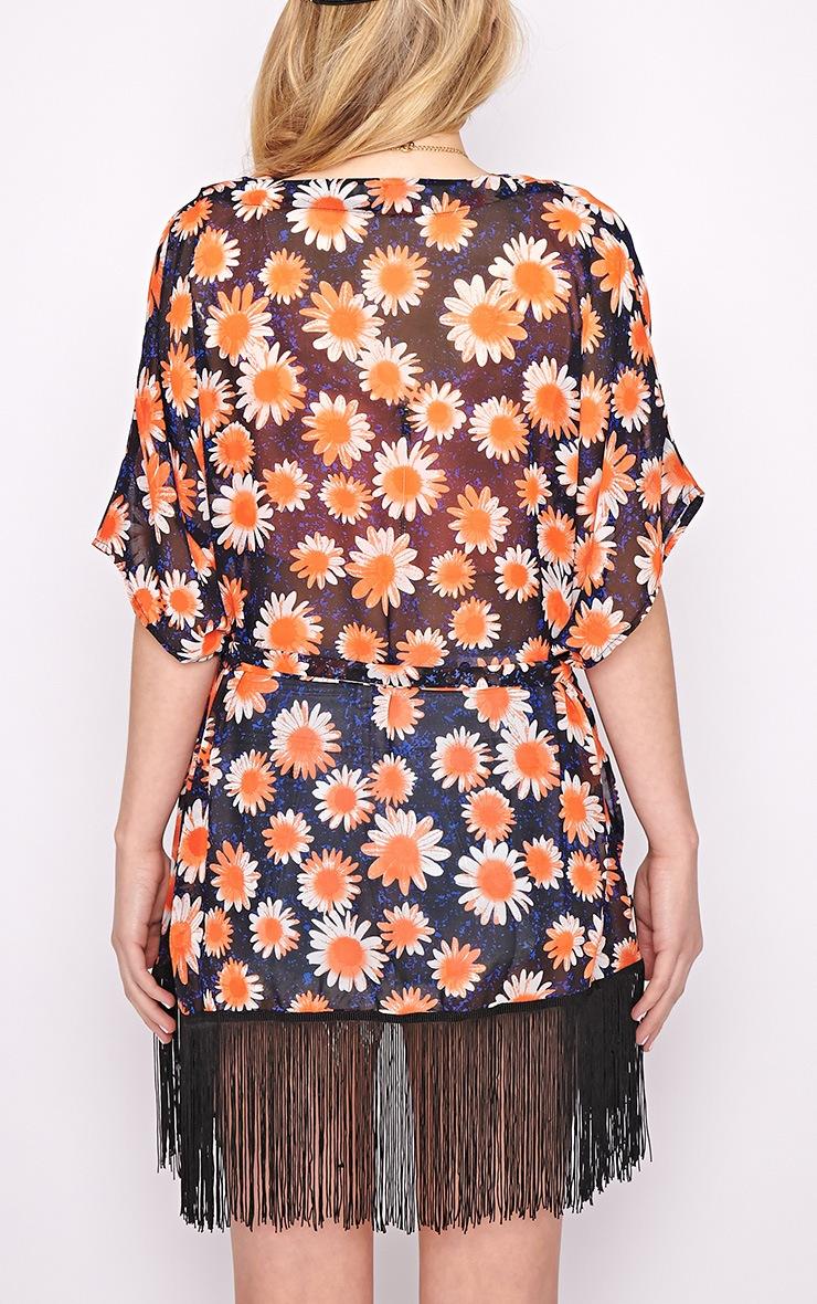 Madison Navy Floral Kimono  2