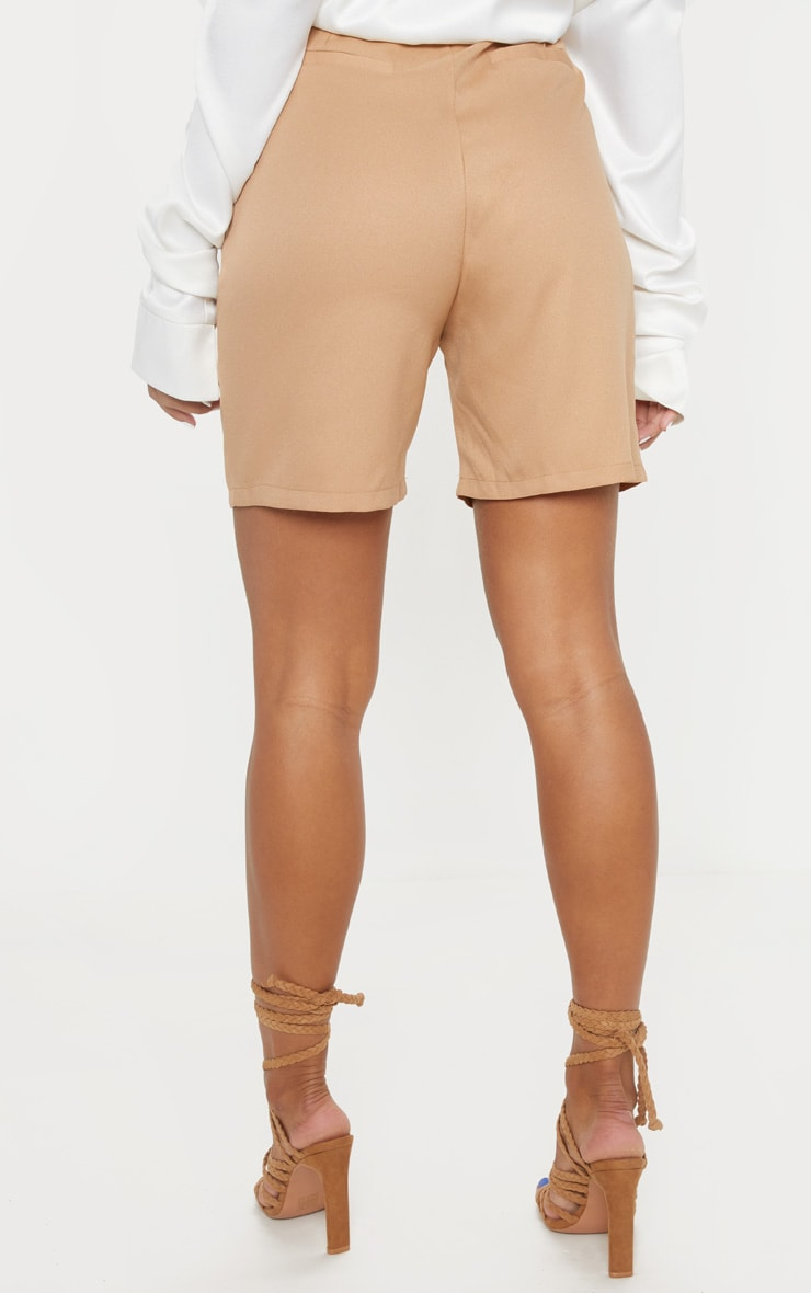 Camel Tie Waist Shorts 4