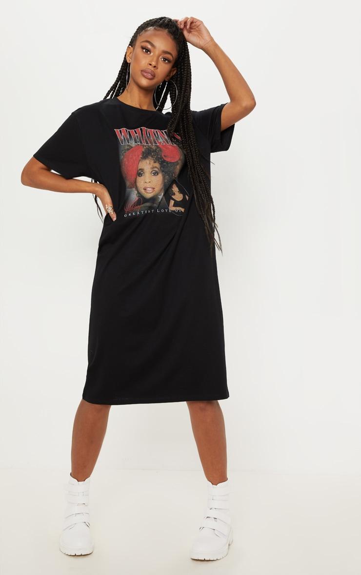 2911cc0f9021 whitney-houston-slogan-black-oversized-midi-dress by prettylittlething