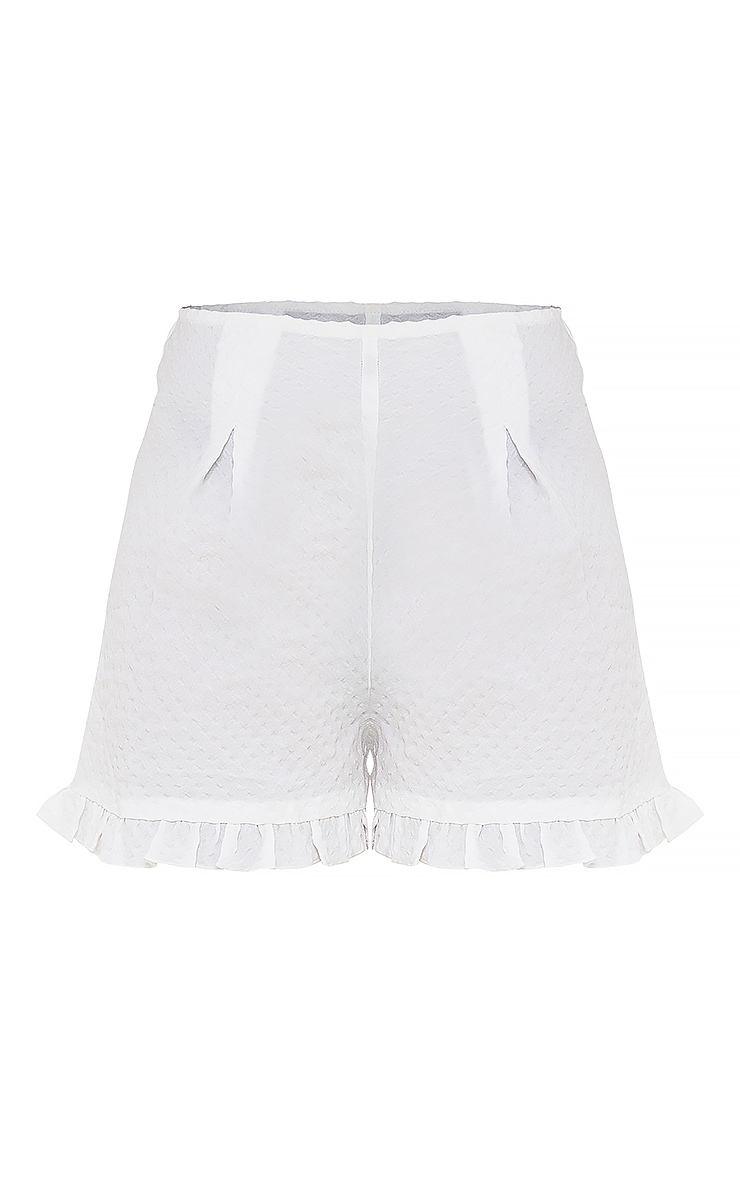 Petite White Polka Shorts 6