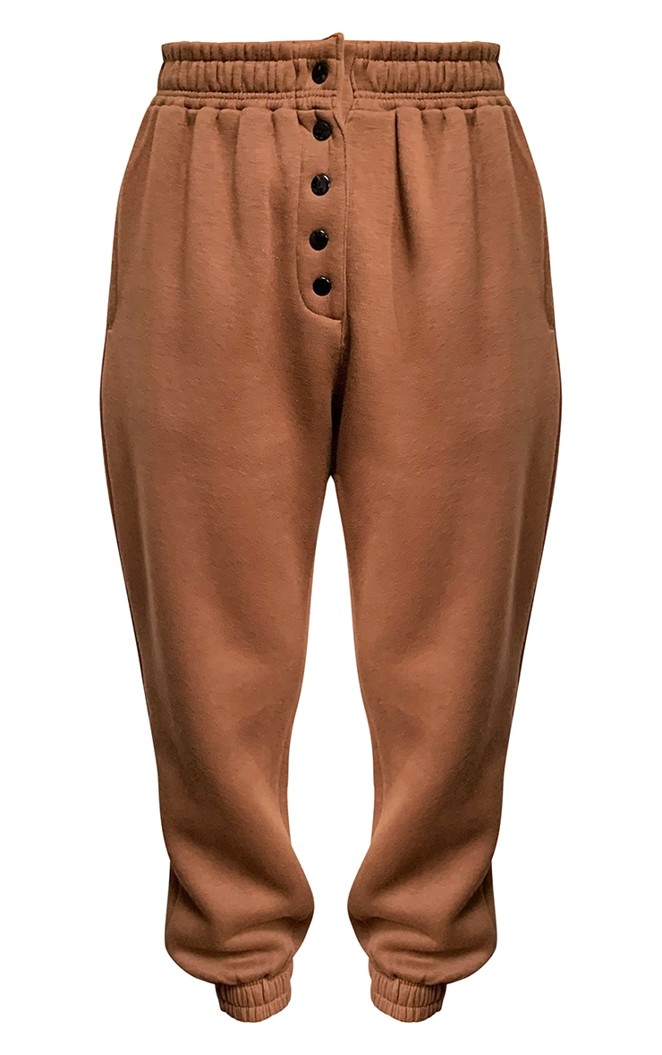 Chocolate Popper Front Joggers 5