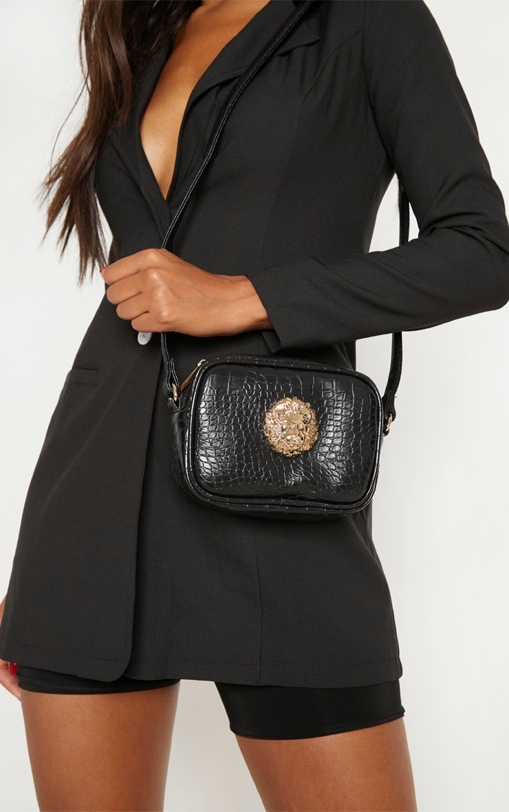 Black Lion Cross Body Bag 2