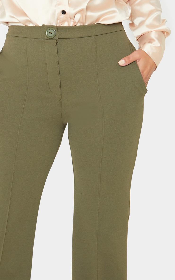 Petite Khaki Pleat Detail Trouser 4