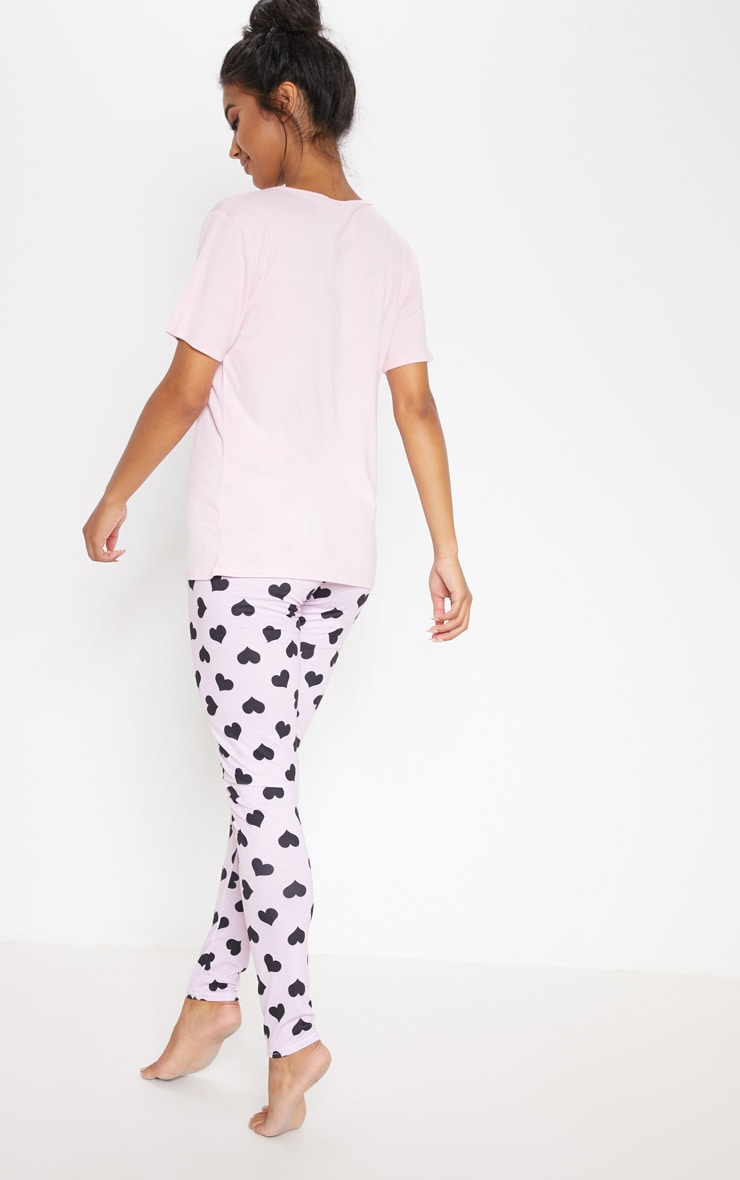 Pink My Type On Paper Legging PJ Set 2