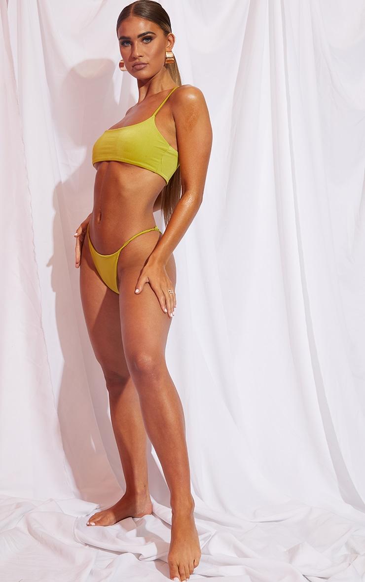 Olive Mix & Match Deep Scoop Bikini Top 3