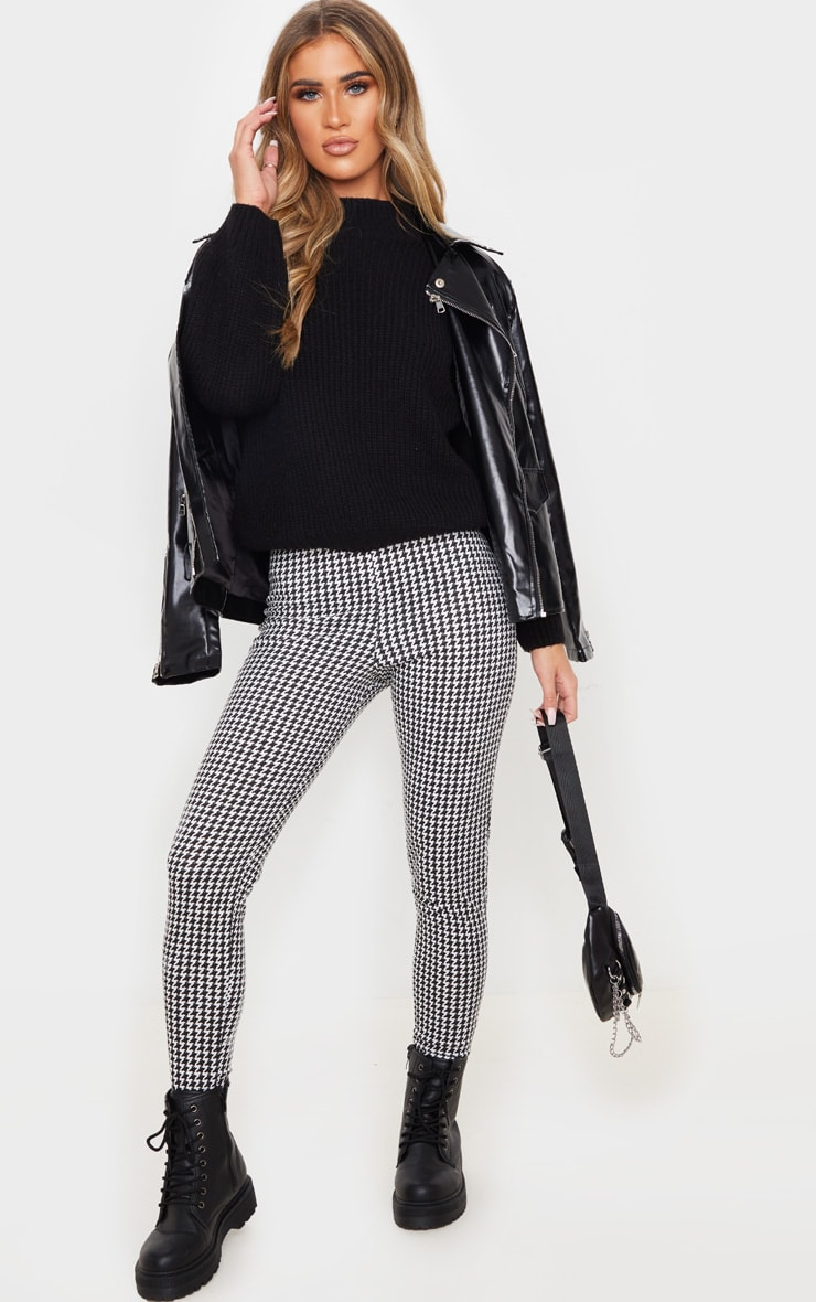 Dogtooth Checked Ponte Legging 1