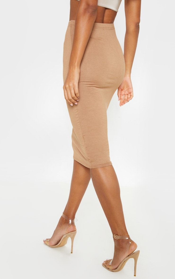 Basic Camel Midi Skirt 4