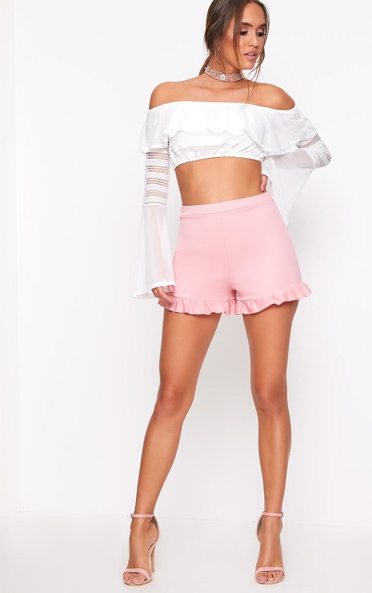 Rose Frill Hem Shorts  5