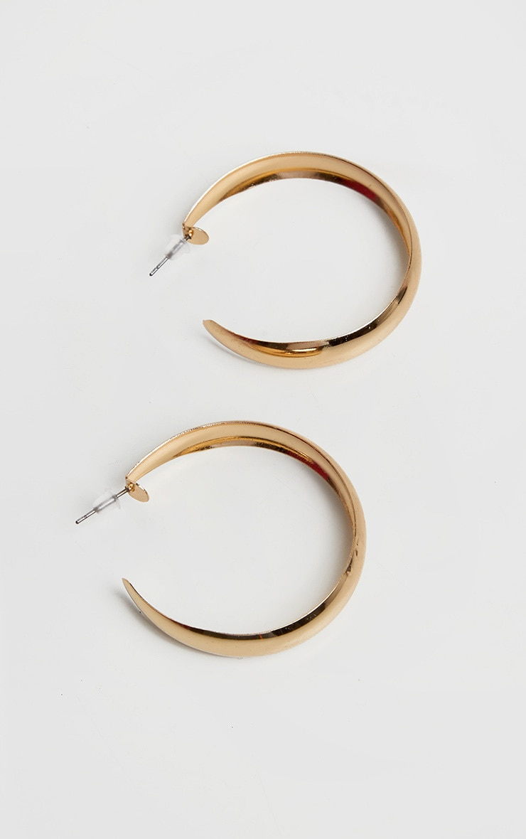 Gold Simple Small Hoop Earrings 2