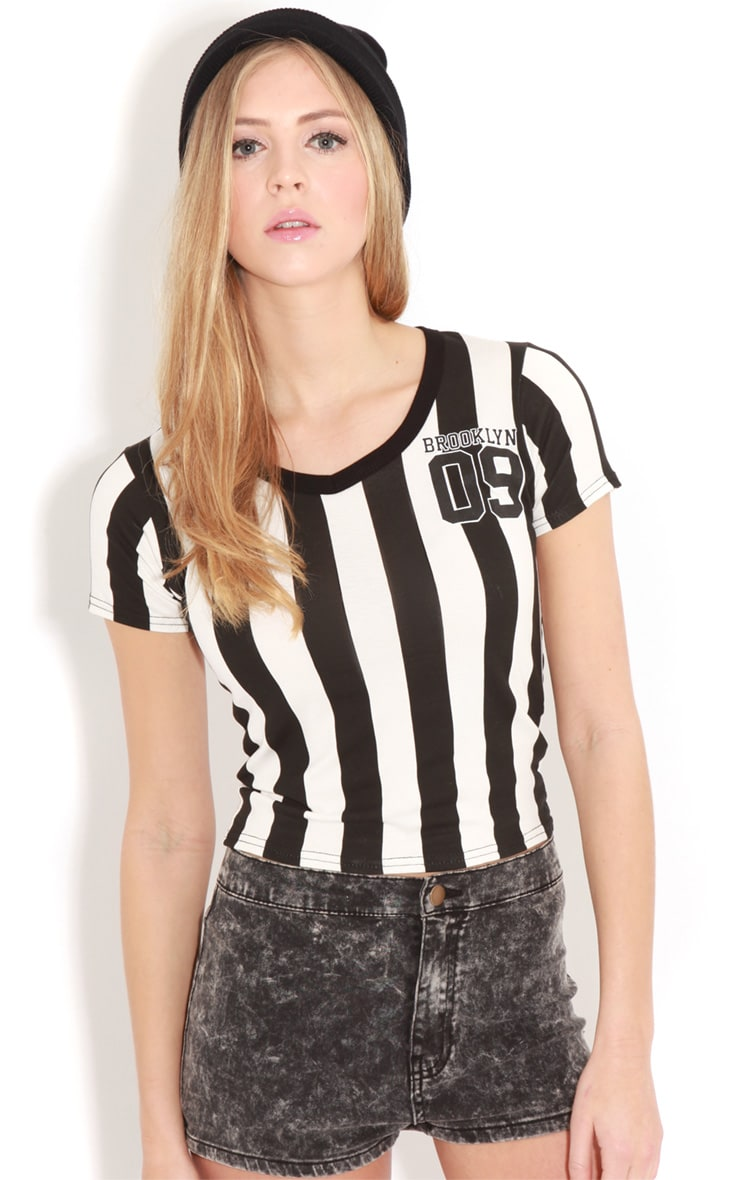 Kerri Black & White Brooklyn T-shirt 4