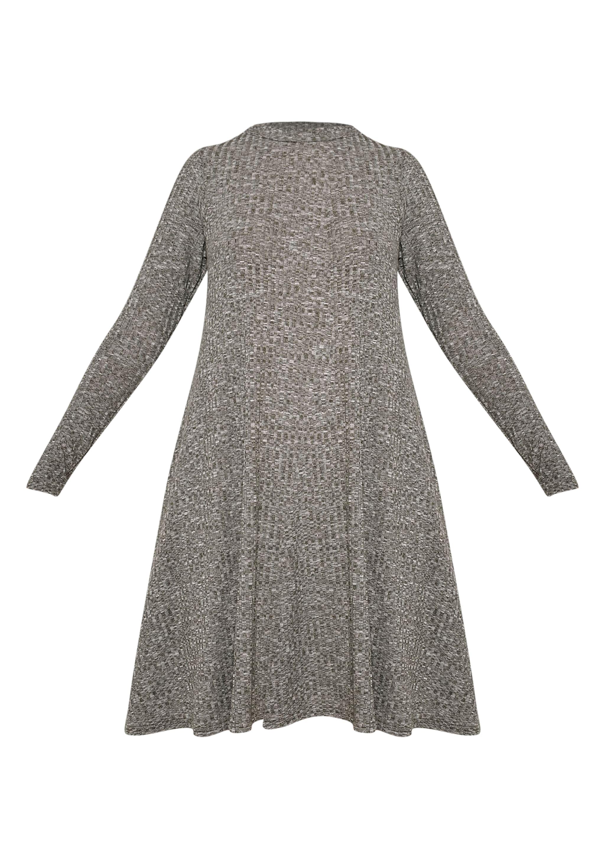 Renae Khaki High Neck Swing Dress 3